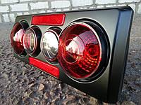Задние фонари на ВАЗ 2107 корпус черный,3D, фото 1