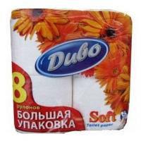 Туалетная бумага Диво Soft 2-слойная белая 8 шт (тп.дв8б)