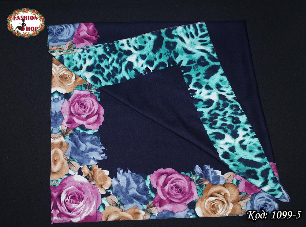 Женский шерстяной платок Цветочек
