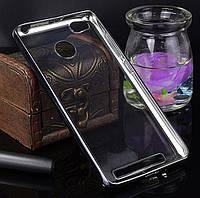 Защитный бампер, накладка для Xiaomi Redmi 3S, 3Pro цвет прозрачный/серебристый, фото 1