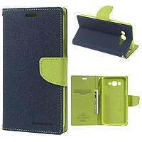 Чехол Книжка Для Samsung Galaxy J7 J700 Mercury  Сине-Зеленый