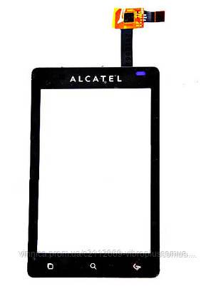 Тачскрин (сенсор) Alcatel OT-919, black (чёрный), фото 2