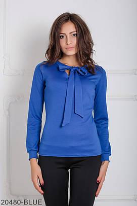 Жіноча синя  трикотажна блузка Glem (XS-XXL)