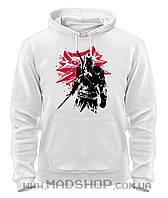 Толстовка Ведьмак The Witcher white wolf. Geralt