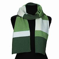 Молодежный вязаный шарф Зеленый