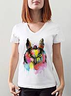 """Женская футболка """"Цветная сова"""""""