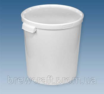 Ведро пластиковое пищевое с крышкой / ферментер, 33 Л