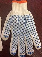 Перчатки рабочие трикотажные с ПВХ точкой