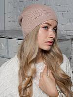 Шапка женская Мода бежевая 022-bei