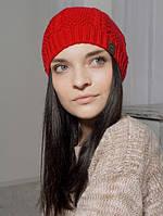 Шапка женская Нежность красная 014-red