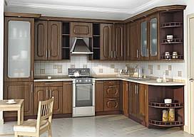 Угловая кухня темная классика, изготовление вариант-009