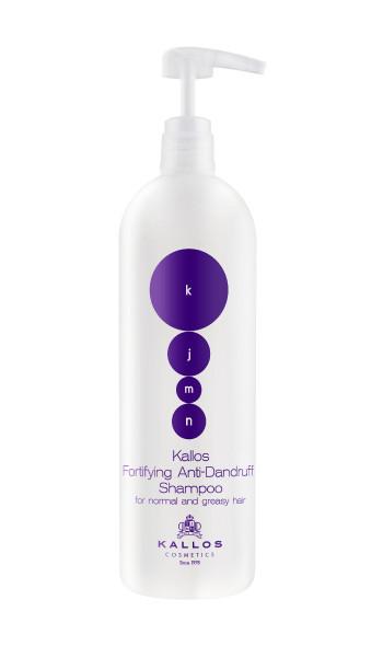 Зміцнюючий шампунь проти лупи для нормального і жирного волосся Kallos Fortifying  1000 мл