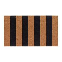 """IKEA """"KVORING"""" Придверный коврик, естественный, черный, 40x70 см"""