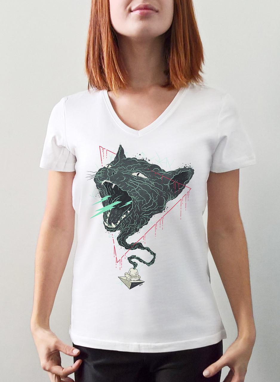 """Женская футболка """"Кот джин"""""""