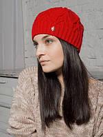 Шапка женская Дебора красная 013-red