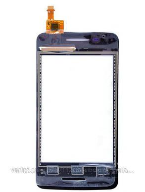Тачскрин (сенсор) Alcatel 4010 One Touch T'Pop, 4010D One Touch T'Pop, 4007 One Touch Pixi, black (чёрный), фото 2