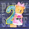Cвеча цифра Мишка 2