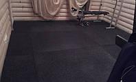 Спортивное резиновое покрытие маты 10 мм черный