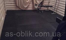 Спортивне гумове покриття мати 10 мм чорний