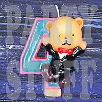 Cвеча цифра Мишка 4