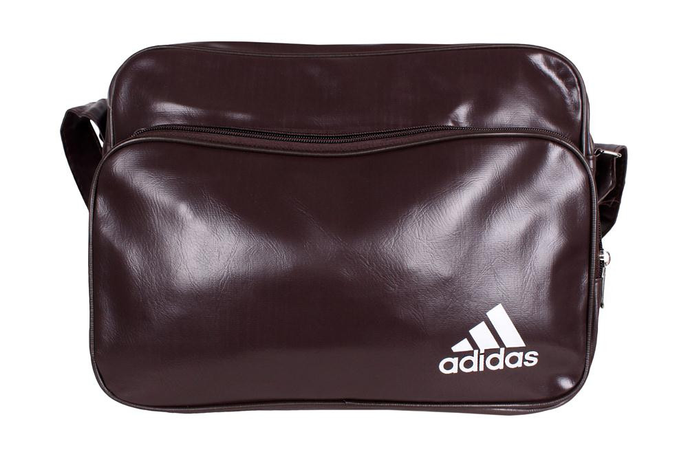 Спортивная сумка Adidas через плечо формат а4 коричневая