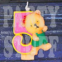 Cвеча цифра Мишка 5