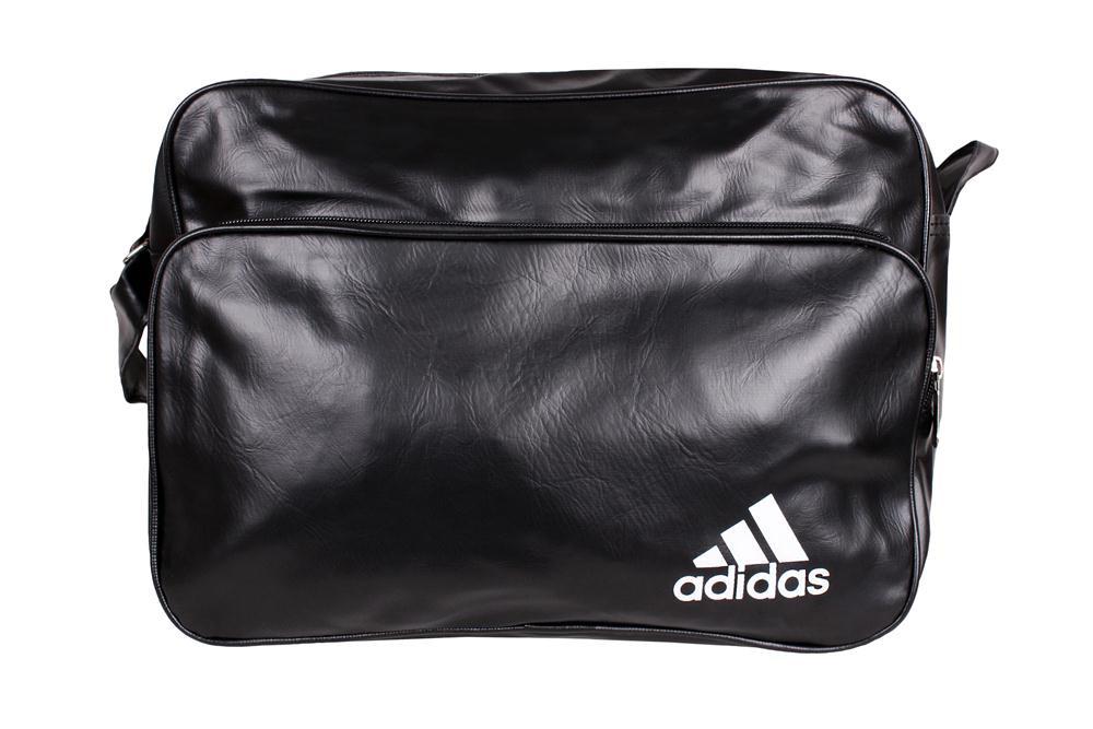 Спортивная сумка Adidas через плечо формат а4 черная