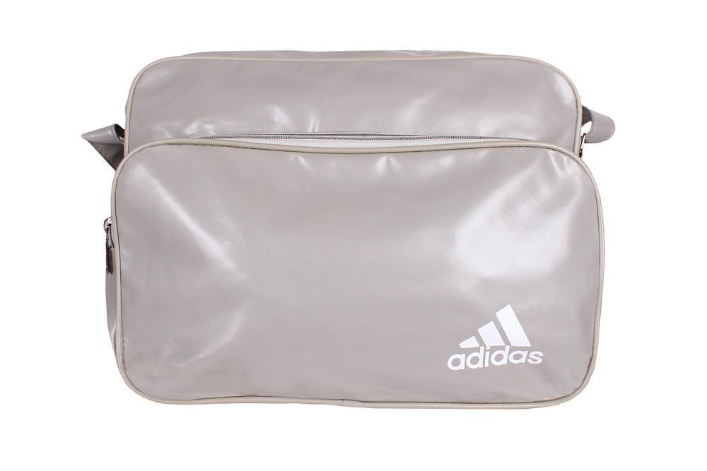 Спортивная сумка Adidas через плечо формат а4 белая