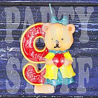 Cвеча цифра Мишка 9