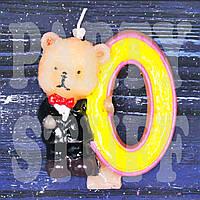 Cвеча цифра Мишка 0