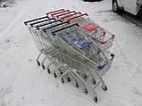 Покупательские тележки, торговые тележки, тележки для супермаркетов, фото 2