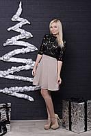 Платье с болеро беж+черный, фото 1