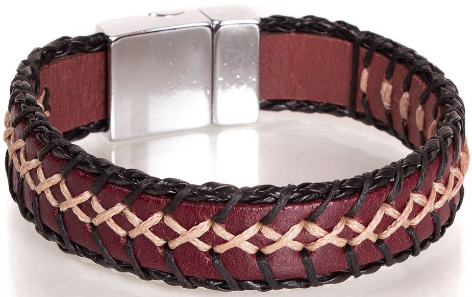 Необычный кожаный браслетDERIBILEKLIKSH10042-4, коричневый