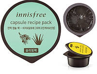 Маска ночная несмываемая Innisfree Capsule Recipe Pack Bija & Aloe  10мл, фото 1