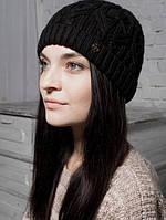 Шапка женская Скарабей черная 011-blk
