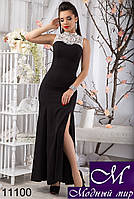 Вечернее платье в пол с распоркой (р. S, M, L) арт. 11100