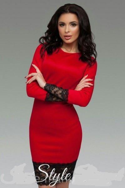 3b260d7fcf7b806 Платье футлярс широким кружевом длинный рукав от производителя 42 44 46 48  50 Р