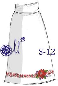 Мережка заготовка бисерной юбки на домотканом полотне