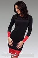 Платье футляр с широким кружевом длинный рукав от производителя низкая цена 42 44 46 48 50 Р, фото 1