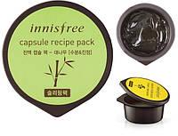 Маска ночная несмываемая Innisfree Capsule Recipe Pack Bamboo10мл , фото 1
