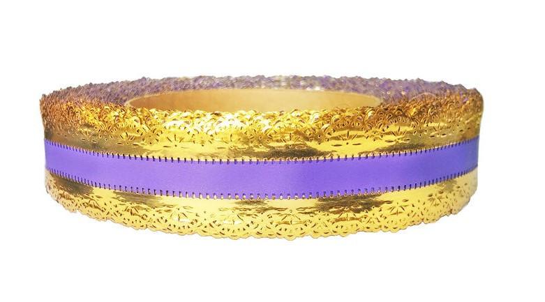 Лента флористическая фиолетовая 3см х 25ярдов