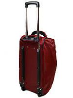 Женская дорожная сумка на колесах нейлон 22838-22in bordo