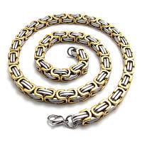 "Цепочка мужская ""Steel Rage Original"", цвет gold+silver 55 см"