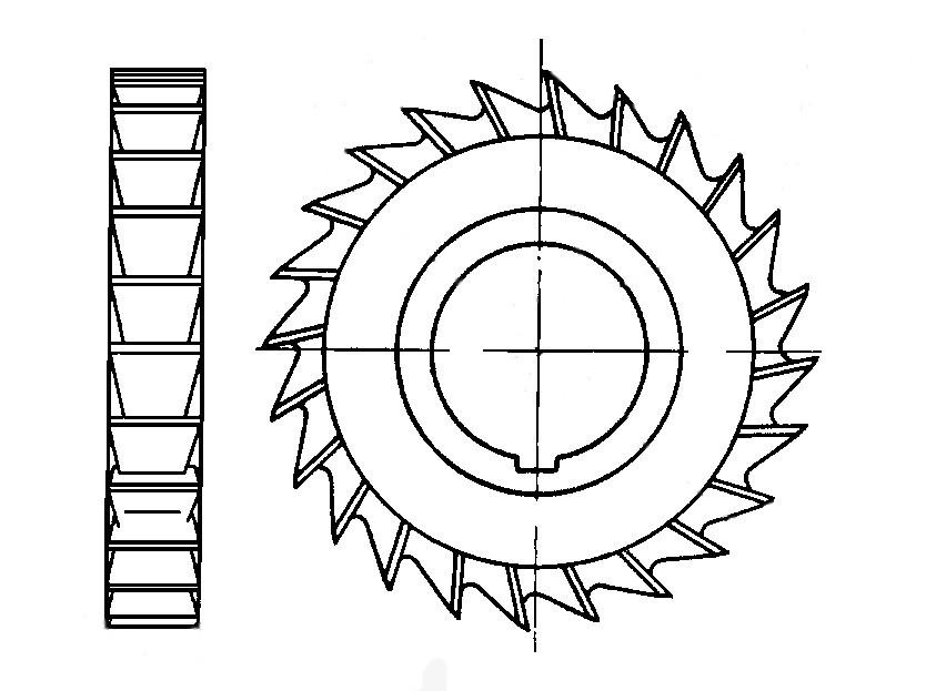 Фреза дисковая трёхсторонняя Ø 63х8 Р6М5