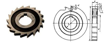 Фреза дисковая пазовая Ø 80х3 Р6М5