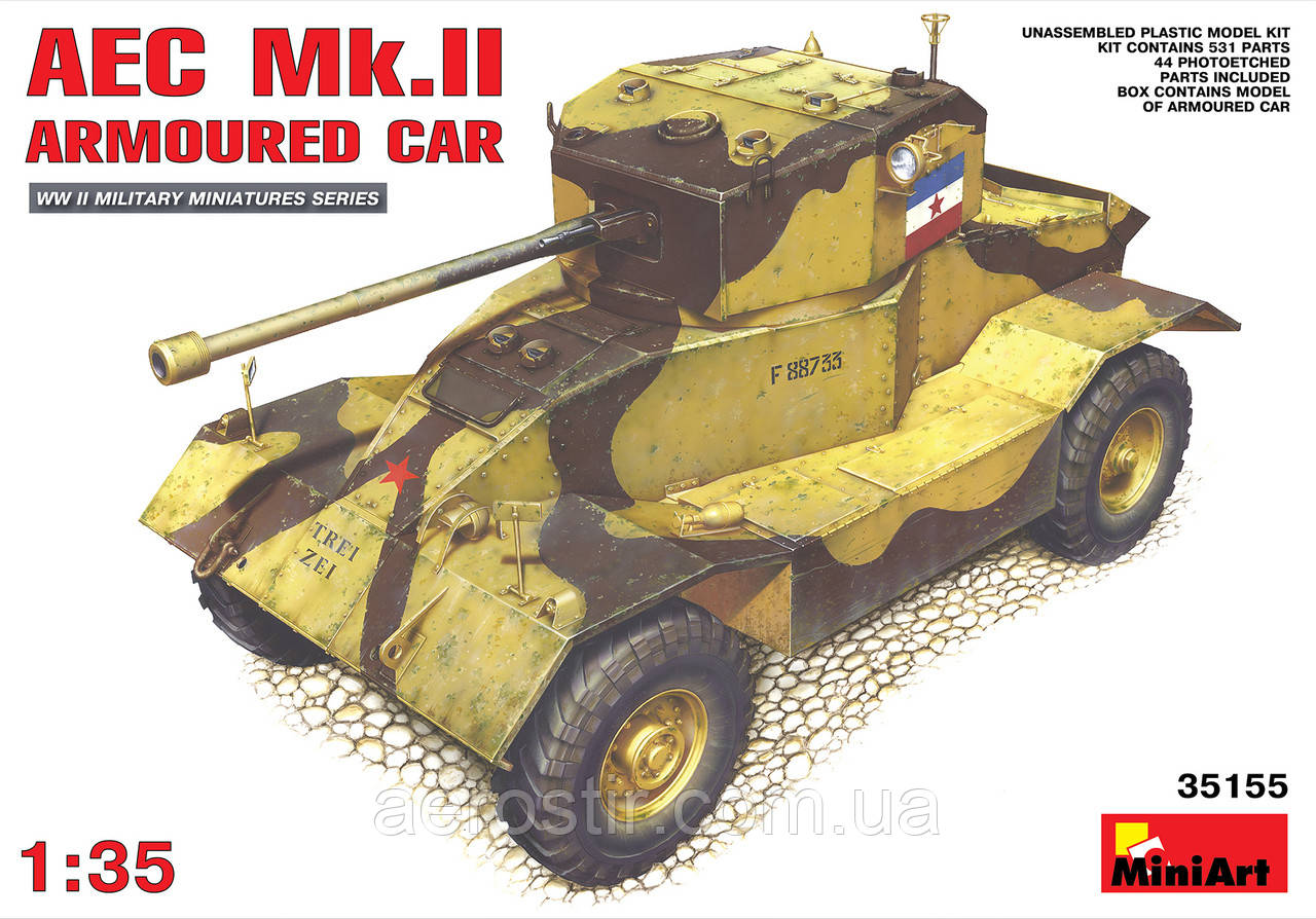 Бронеавтомобиль AEC Mk.II 1/35 MiniART 35155