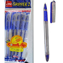 Ручка CELLO GRIPPER II, синий стержень 0,5мм.