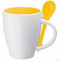 Чашка с ложкой керамические 250 мл