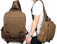 """Рюкзак сумка через плече """"Canvas 1"""" цвет песок"""