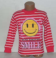 """Реглан для девочек """"СМАЙЛ"""" 6,8,9 лет, 100% хлопок.Детская одежда оптом"""